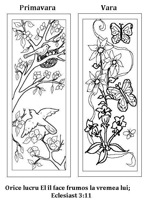 primavara, vara-plansa de colorat