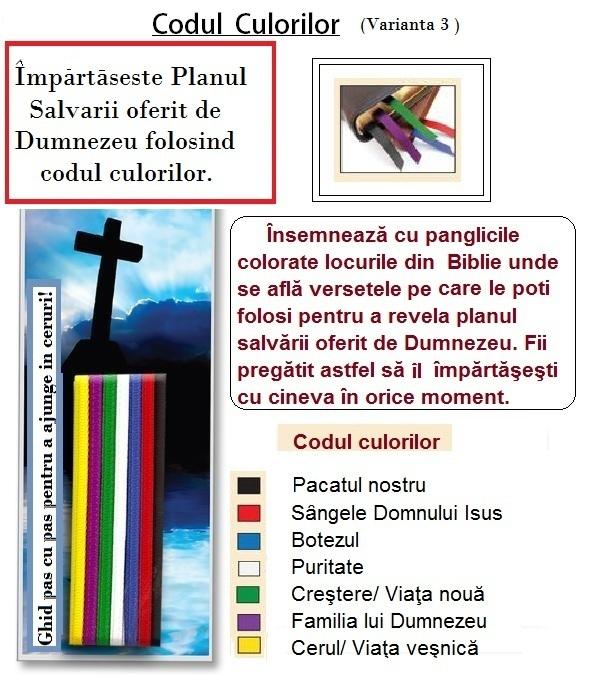 Codul culorilor- Planul Salvarii
