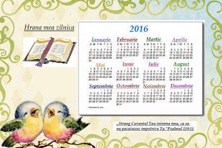 Calendar - Hrana mea zilnica