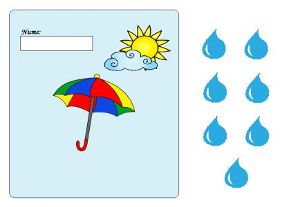 Prezenta toamnei - picuri de ploaie