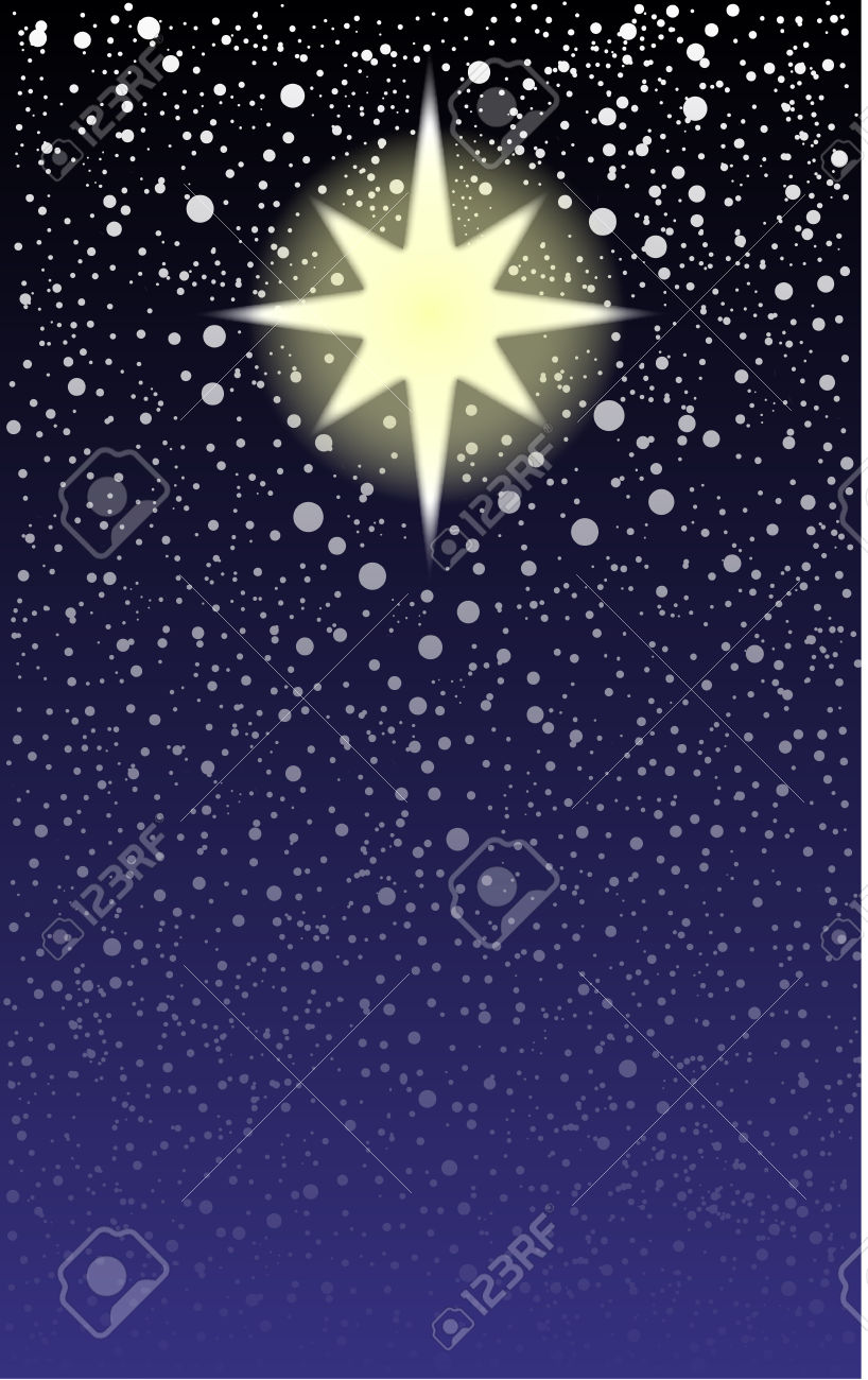 23469187-The-brightest-star-in-the-sky-the-Christmas-star-Stock-Vector