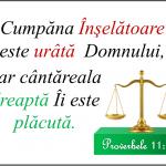 Proverbe 11.1
