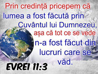 Evrei 11.3